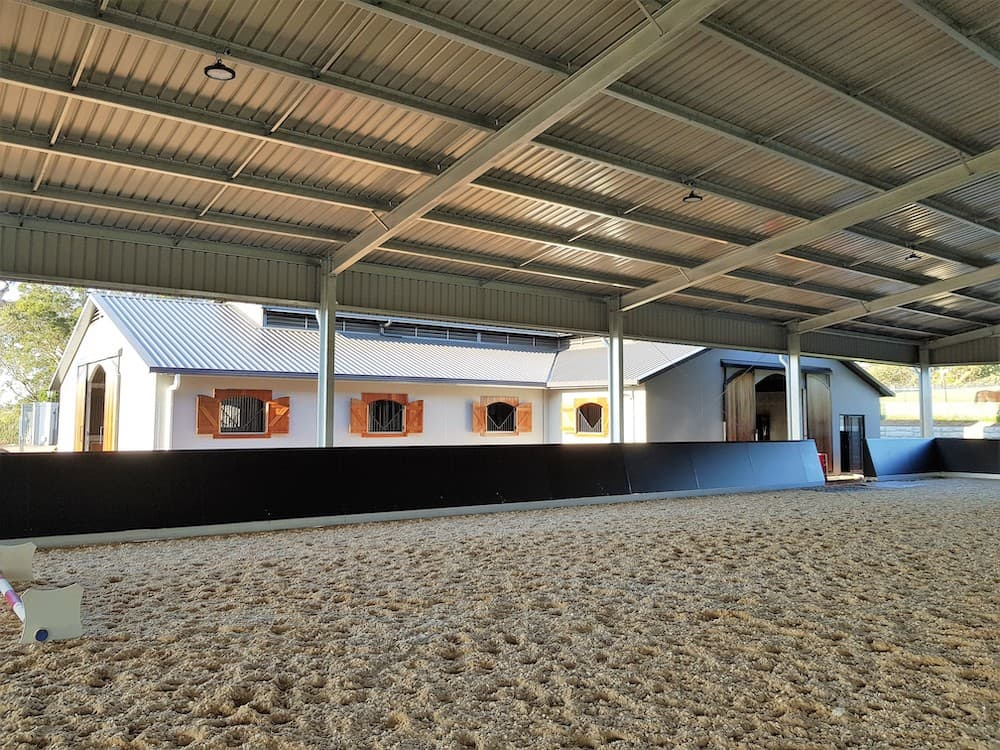 Horse arena indoor UB portal colorbond roof