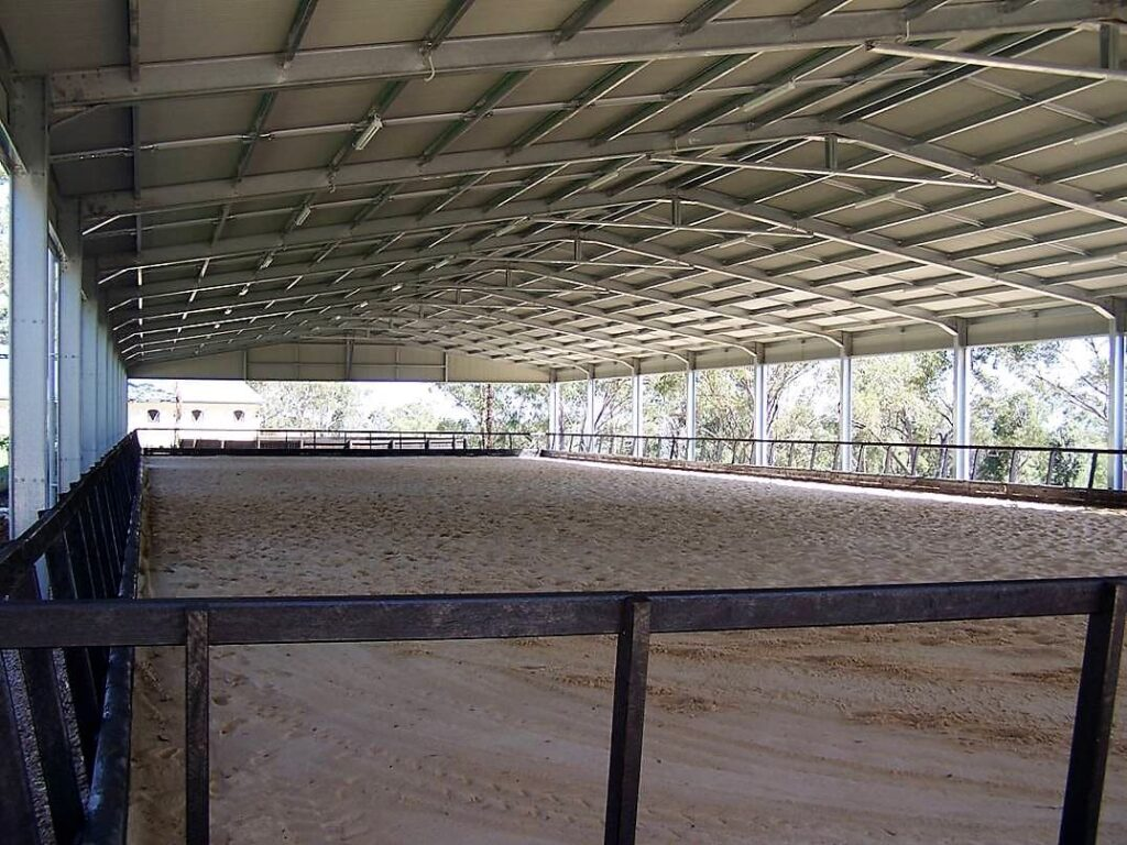 Horse arena indoor C section portal colorbond roof