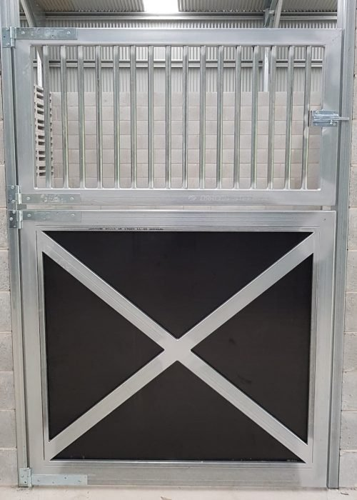Stable door swinging cross feature galvanized form ply lined swinging grill