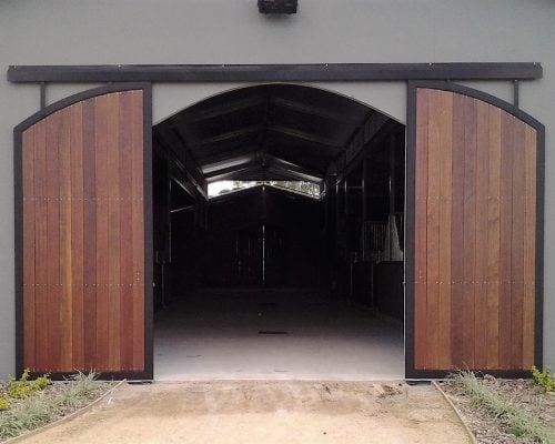 Arch top sliding doors