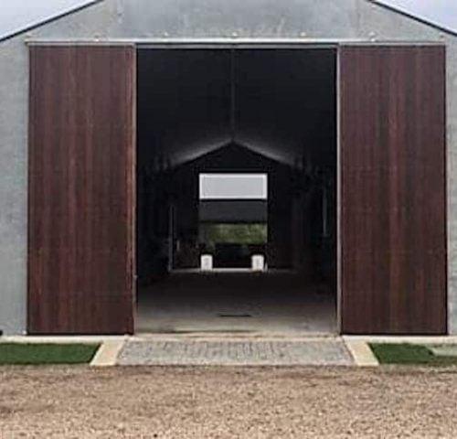 P15-Stable-barn-entry-doors-steel-frame-hardwood-lined-sliding