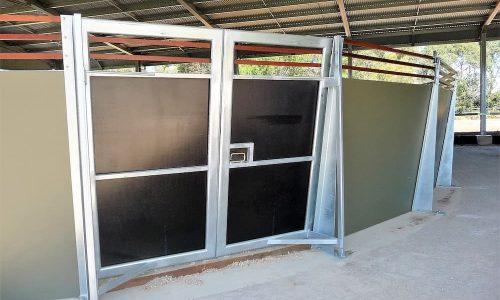 Precast concrete round yard entry doors