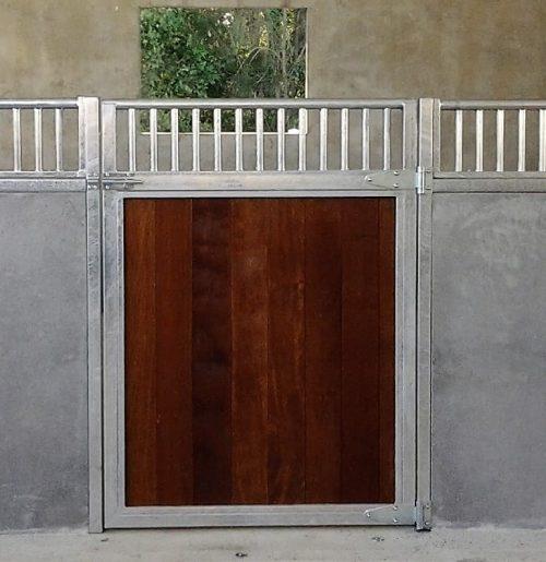 Stable door steel frame galvanized swinging timber lined