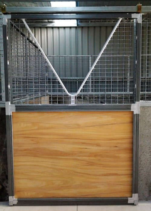 Stable door sliding steel frame galvanized anti weave mesh and marine ply lined